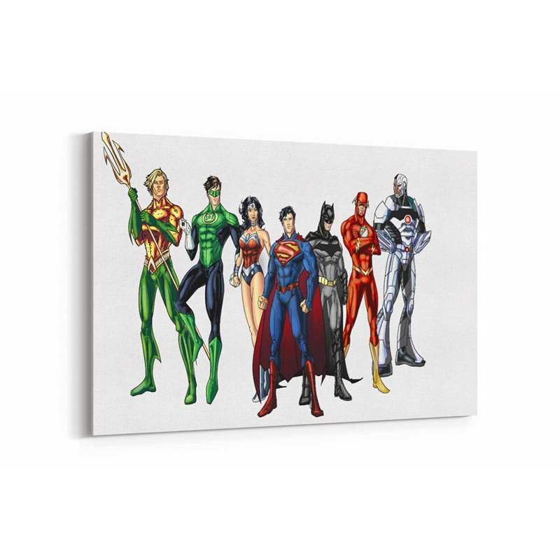 Justice League Takımı Kanvas Tablo