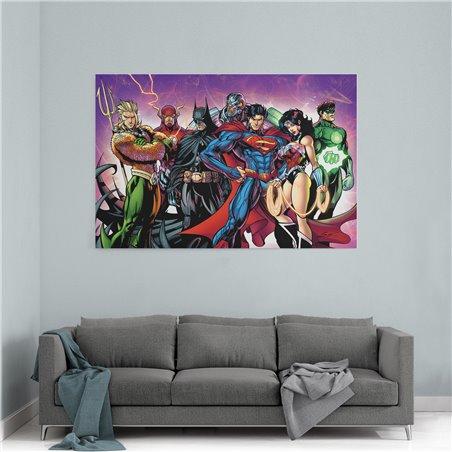 Justice League Süperkahramanları Kanvas Tablo
