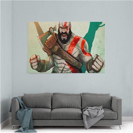 Kratos Çizgi  Kanvas Tablo