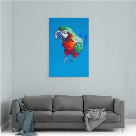 Papağan Çizim Kanvas Tablosu