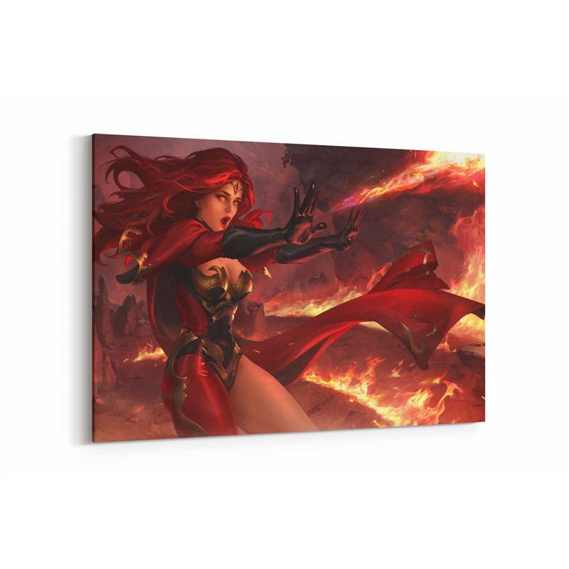 Legend Of Ace Flame Maiden Kanvas Tablo
