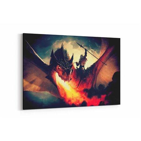 Magic The Gathering Dragon Ejder Kanvas Tablo