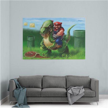 Mario ve Yoshi Kanvas Tablo