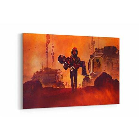 Mars Dizisi Sahne Kanvas Tablo