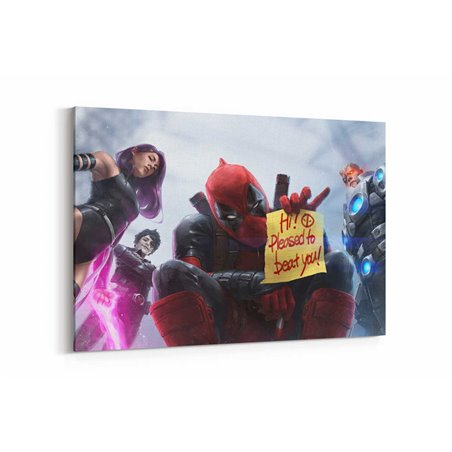 Marvel Deadpool X Force Kanvas Tablo