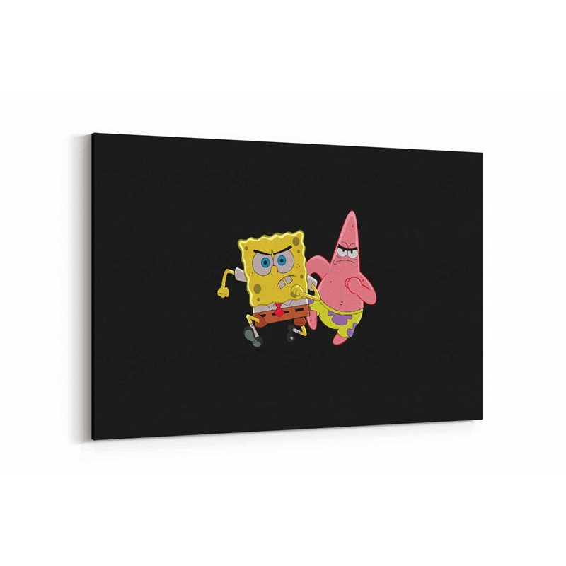 Spongebob and Patrick Star Kanvas Tablo