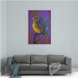 Pastel Kuş Kanvas Tablosu