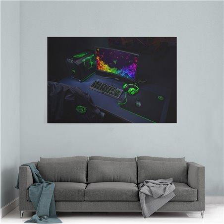 Razer Gaming Setup Kanvas Tablo