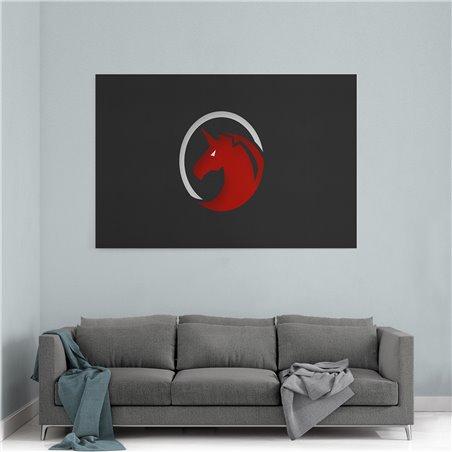 Red Unicorn  Kanvas Tablo