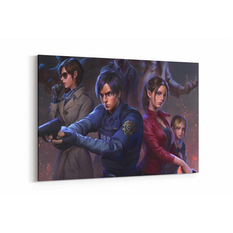 Resident Evil 2 Poster Kanvas Tablo