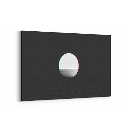 Retrowave Soyut Kanvas Tablo