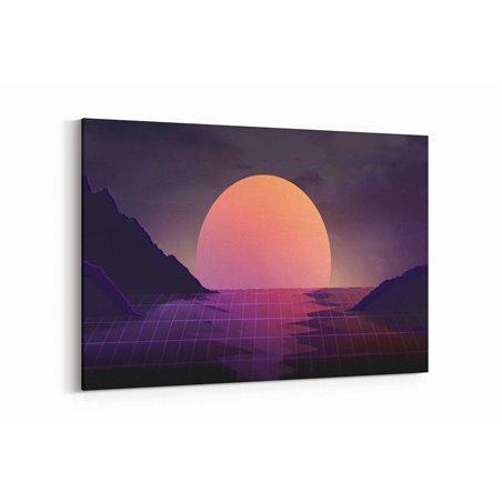 Geleceğe Dönüş Ay Kanvas Tablo