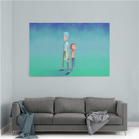 Rick And Morty Çizgi Kanvas Tablo