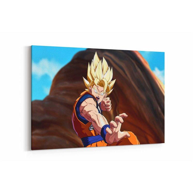 Saiyan Dragon Ball Fighterz Kanvas Tablo