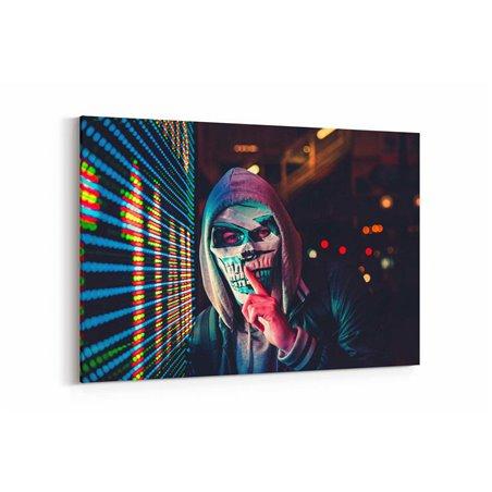 İskelet Maske Kanvas Tablo