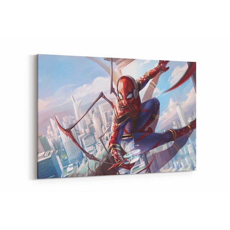Spiderman Demir Giyisi Kanvas Tablo