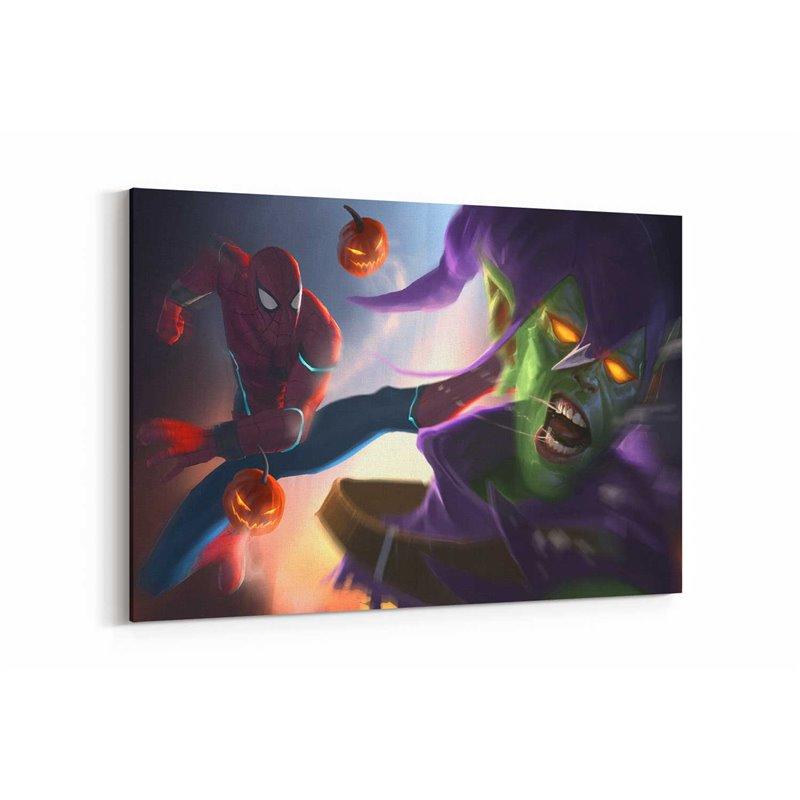 Spiderman ve Goblin Kanvas Tablo