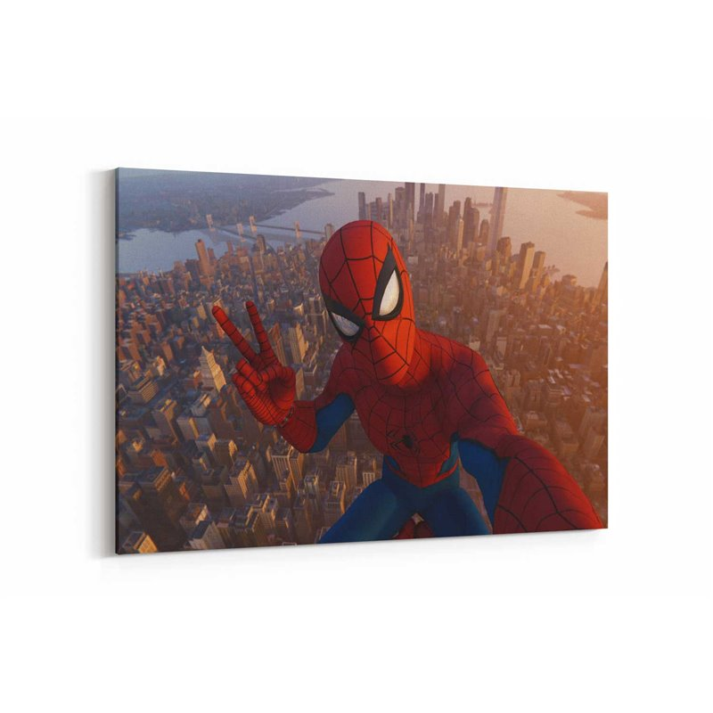 Spiderman NYC Kanvas Tablo
