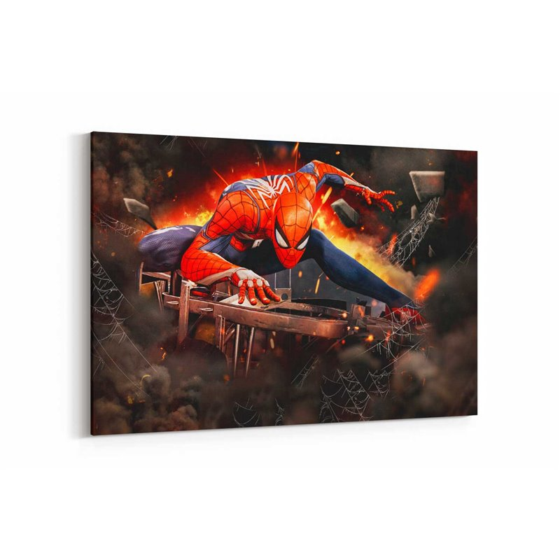 Spiderman PS4  Kanvas Tablo
