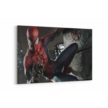 Spiderman Venoma Dönüşürken Kanvas Tablo