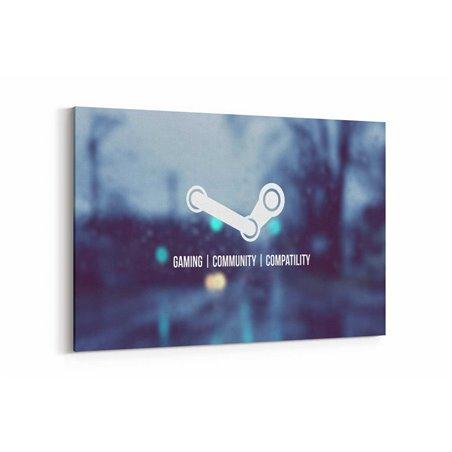 Steam Logo Kanvas Tablo