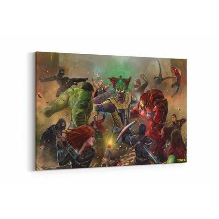 Thanos ve Avanger Savaşı Kanvas Tablo