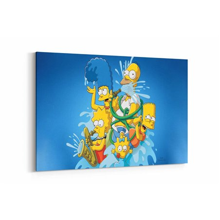 The Simpsons Kanvas Tablo