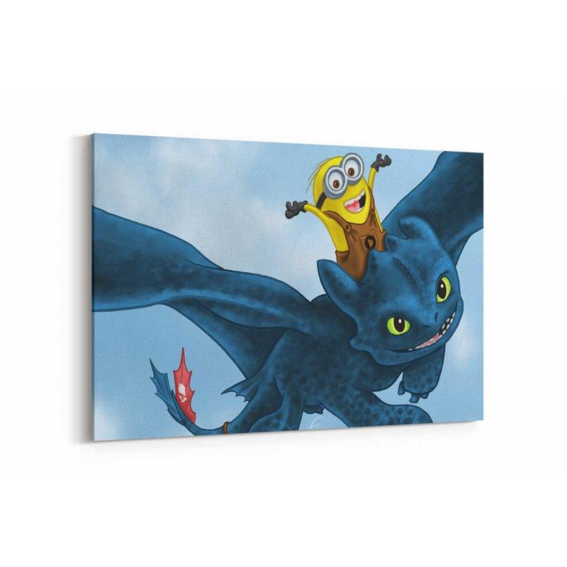 Minion ve Toothless Kanvas Tablo