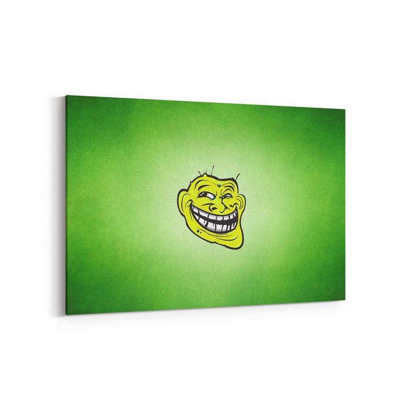 Trollface Kanvas Tablo