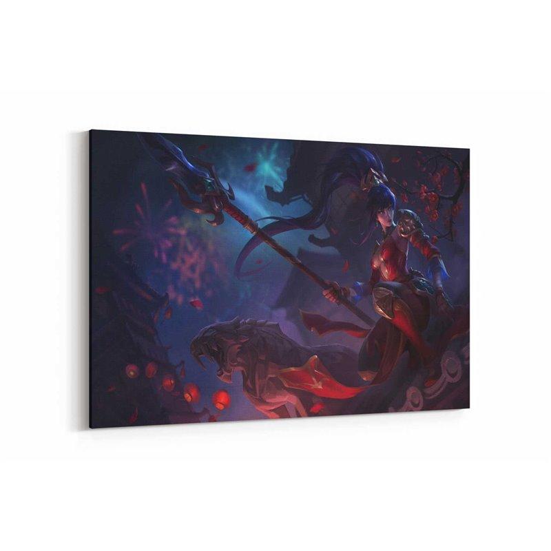 League Of Legends Nidalee Warring Kingdoms Kanvas Tablo