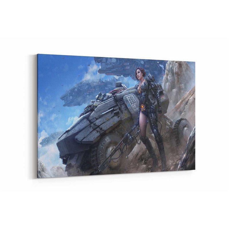 Uzay Savaşçısı Kadın Kanvas Tablo