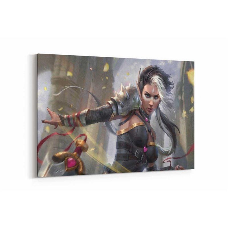Adalia Warrior Girl Kanvas Tablo