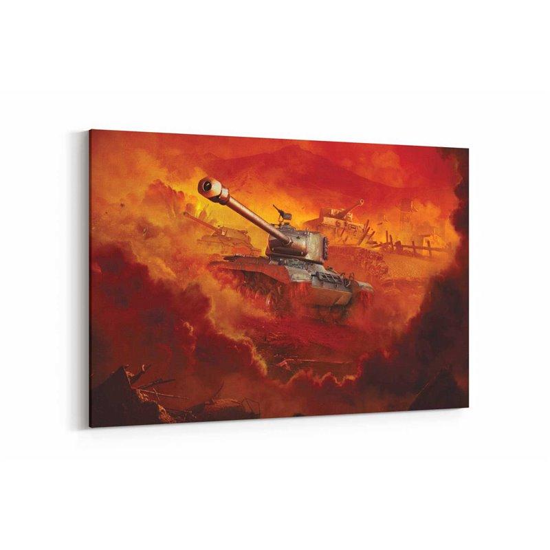 World Of Tanks Poster Kanvas Tablo