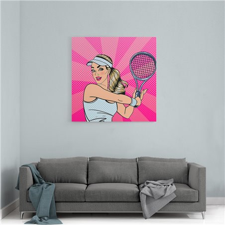 PopArt Tenisçi Kız Kanvas Tablo
