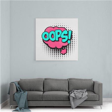 PopArt Oops! Kanvas Tablo