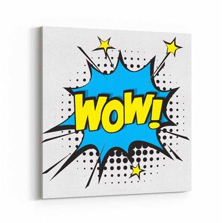 PopArt WOW! Kanvas Tablo