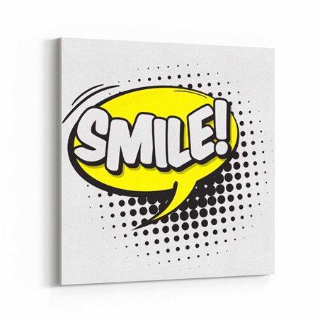 PopArt Smile! Kanvas Tablo