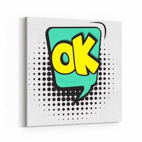 PopArt OK Kanvas Tablo
