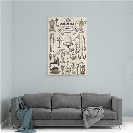 Home Collection Retro ve Vintage Kanvas Tablo