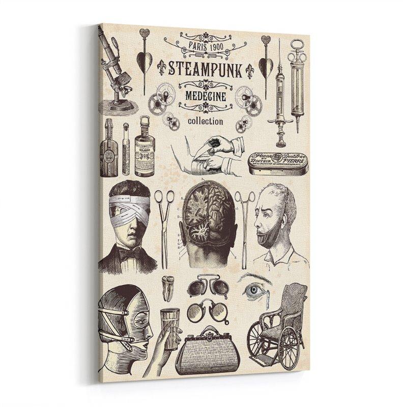 Medicine Retro ve Vintage Kanvas Tablo
