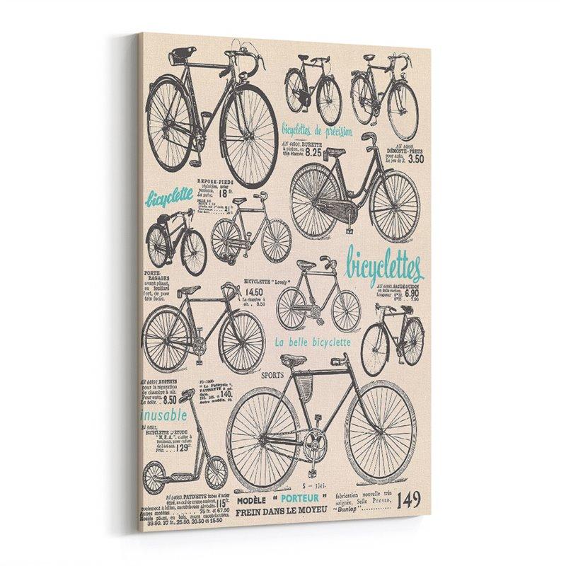 Bisiklet Retro ve Vintage Kanvas Tablo