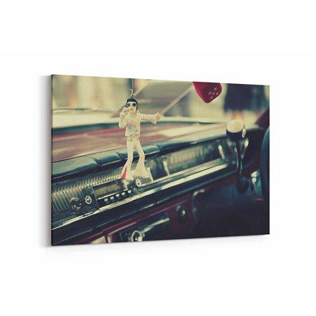 Elvis ve Araç Kanvas Tablo