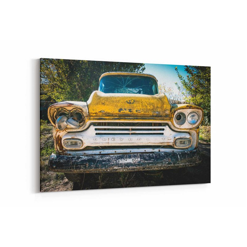 Retro Chevrolet Kanvas Tablo