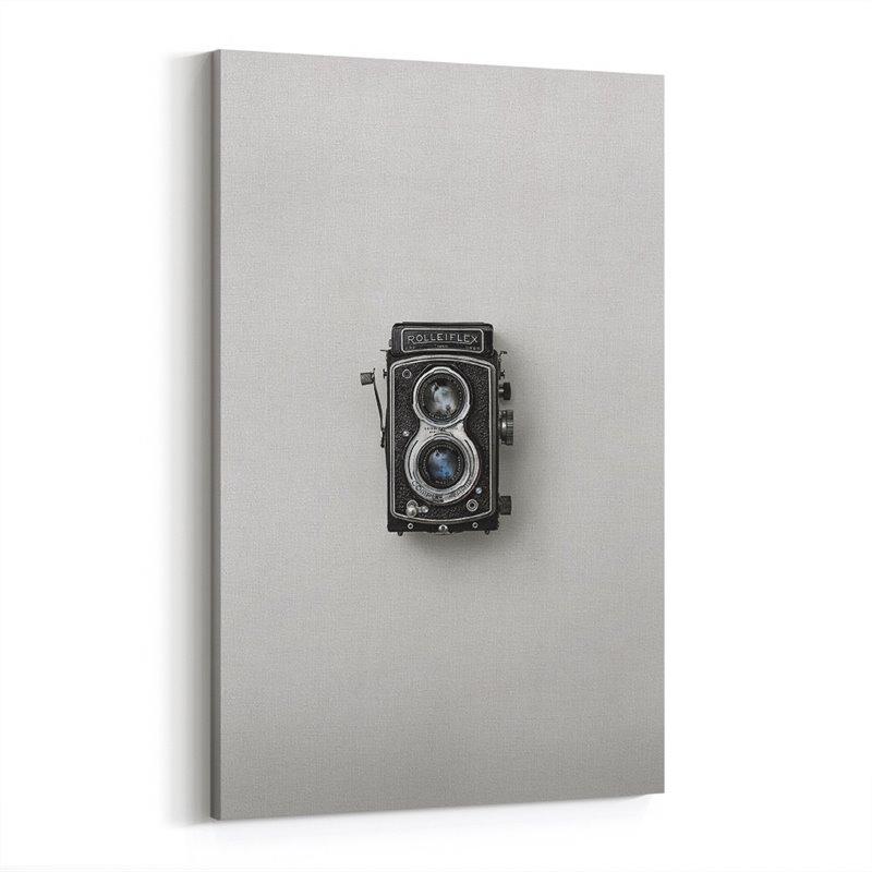 Retro Kamera Kanvas Tablo