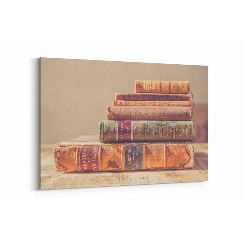Eski Kitaplar Kanvas Tablo