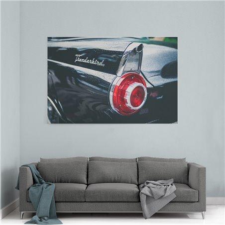 Thunderbird Retro Kanvas Tablo