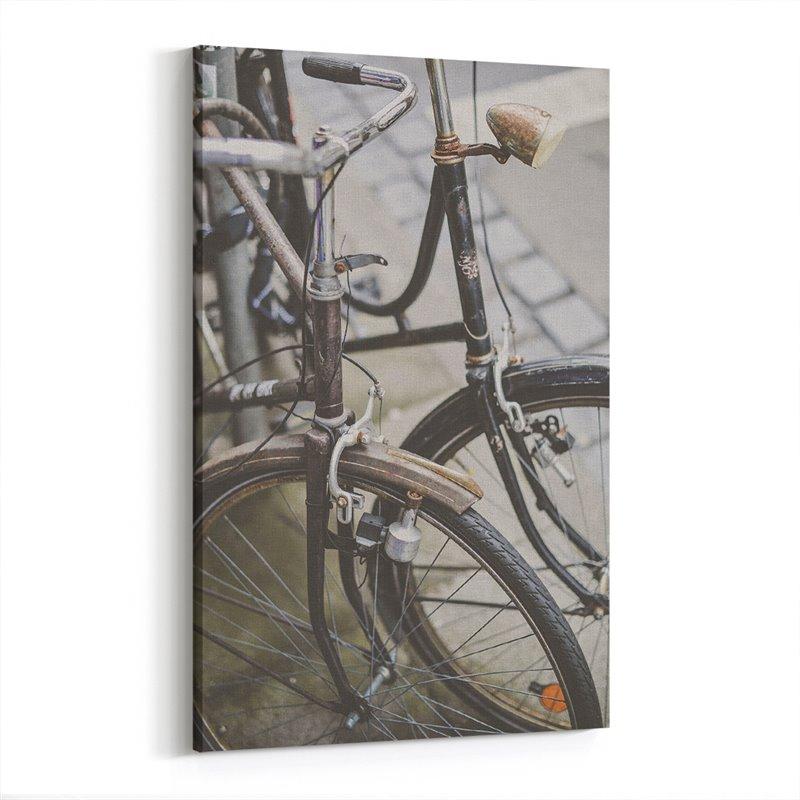Vintage Bisikletler Kanvas Tablo