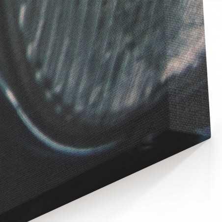 Yakın Siyah Eski Araç Kanvas Tablo