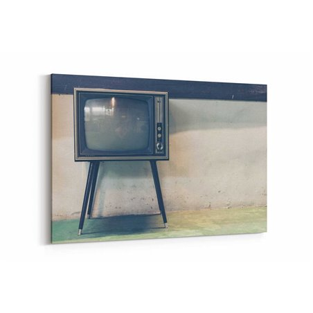 Eski Televizyon Kanvas Tablo