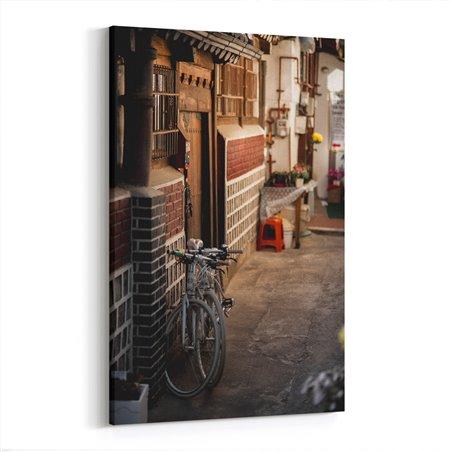Eski Sokak ve Bisiklet Kanvas Tablo